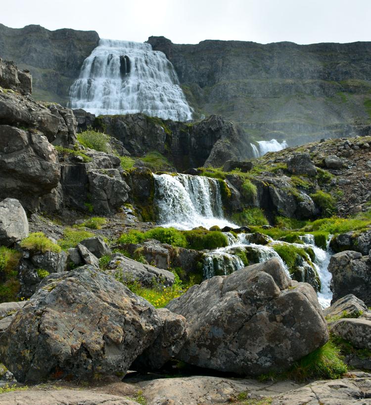 Image of Dynjandi (or Fjallfoss) waterfall in Iceland