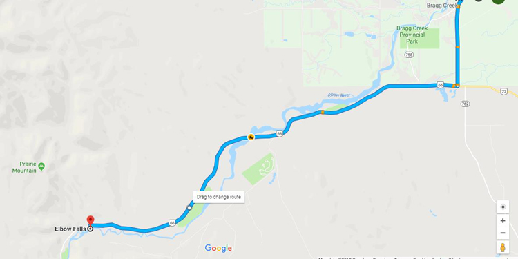 An image of a Map with directions to the Prairie Mountain trailhead.