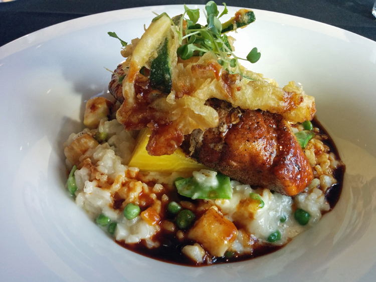 An image of a main course entree at the Three Ravens Restaurant and Wine Bar