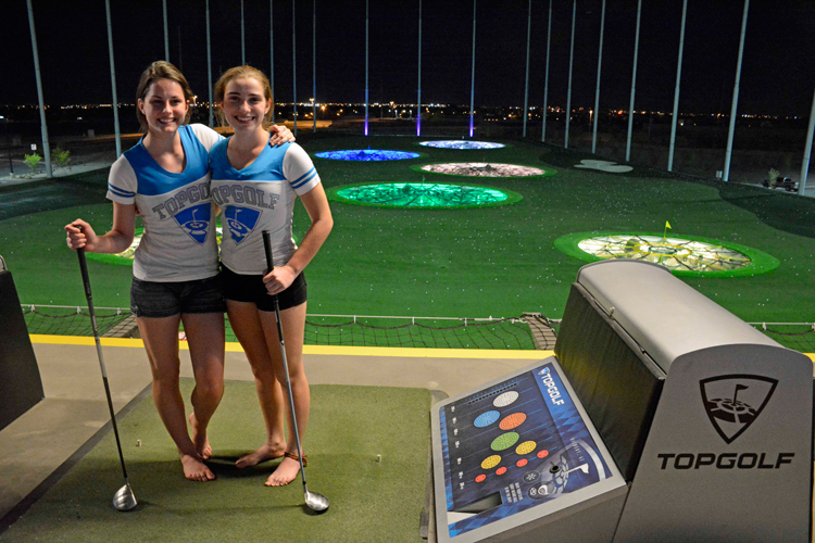 An image of the Top Golf facility in Gilbert, Arizona