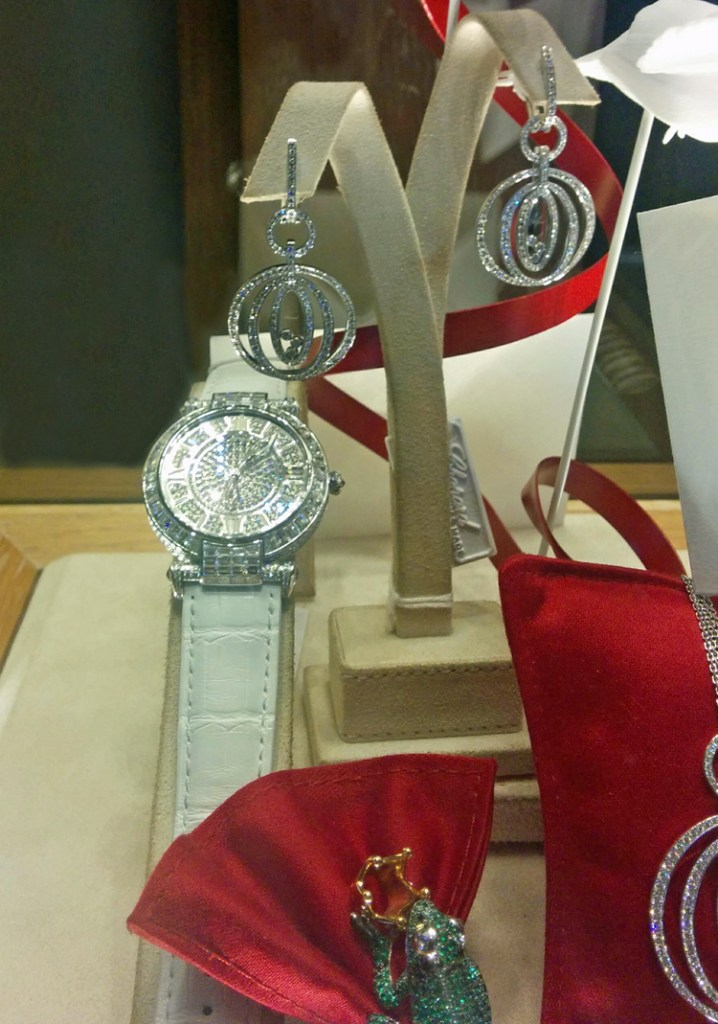 An image of a white gold and diamond watch