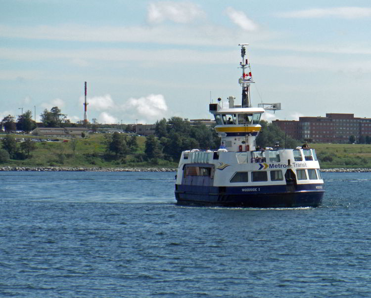 An image of the ferry in Halifax harbor in Halifax, Nova Scotia Canada - Halifax tours