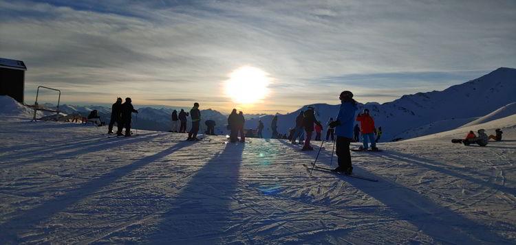 An image of the top of a run at Marmot Basin in Jasper, Alberta - Jasper Skiing