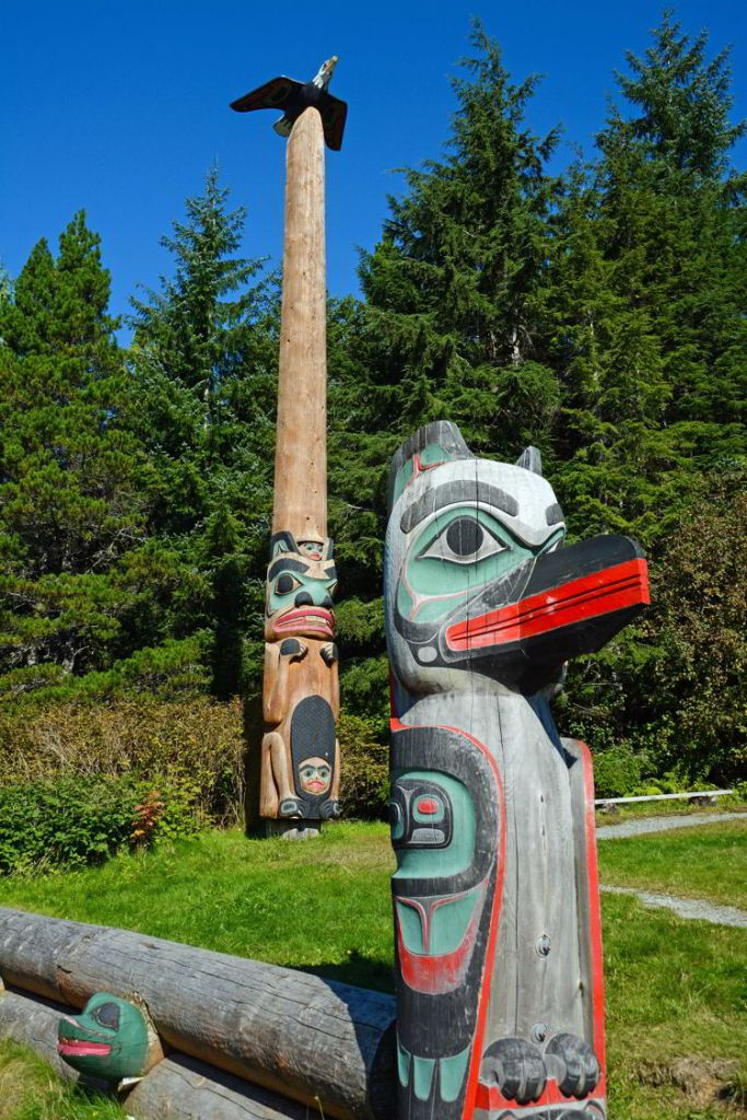 An image of the eagle toem pole in Saxman, near Ketchikan, Alaska - Things to do in Ketchikan