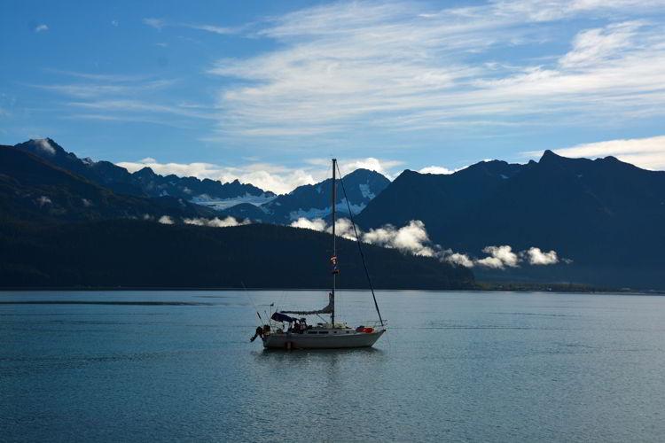 An image of a sailboat in Resurrection Bay in Seward, Alaska USA - Things to do in Seward, Alaska