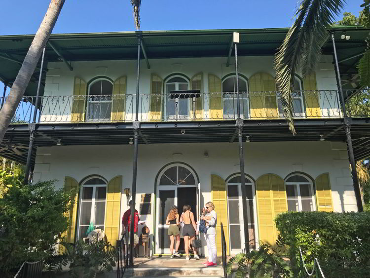 An image of Hemingway House in Key West, Florida.