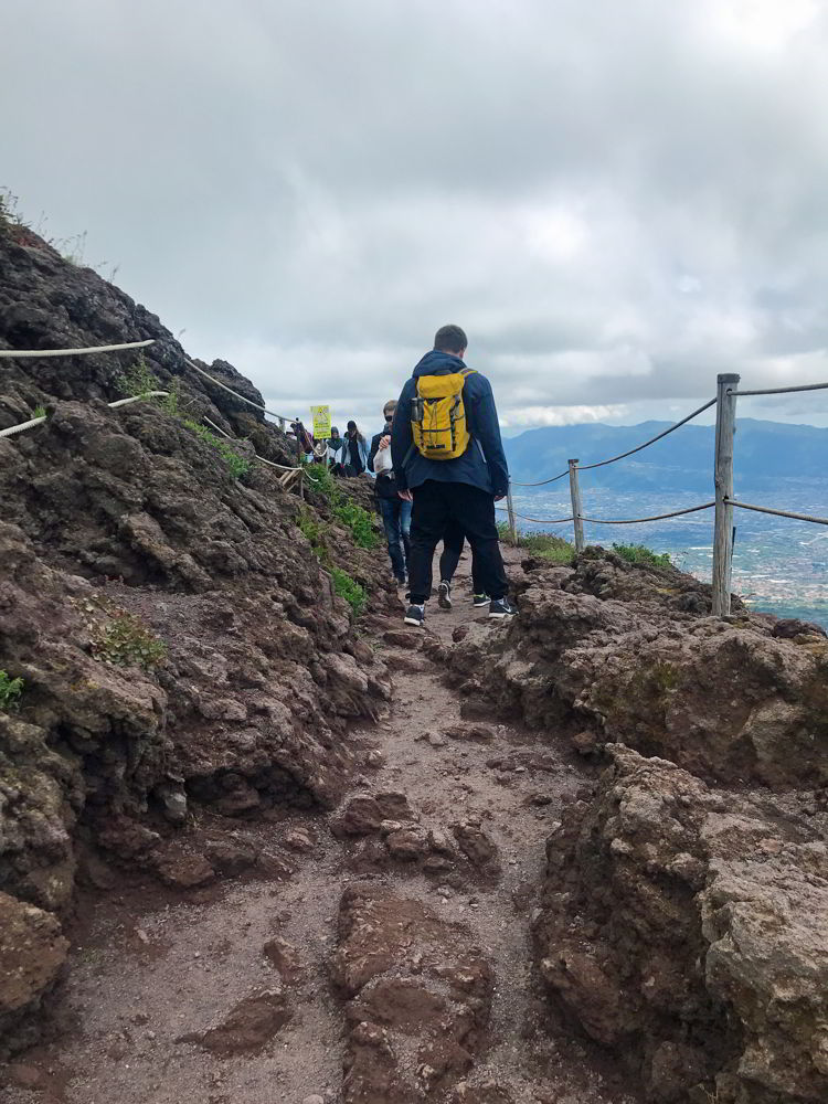 An image of uneven trail on the hike up Mt Vesuvius near Naples, Italy - Hiking Mt Vesuvius
