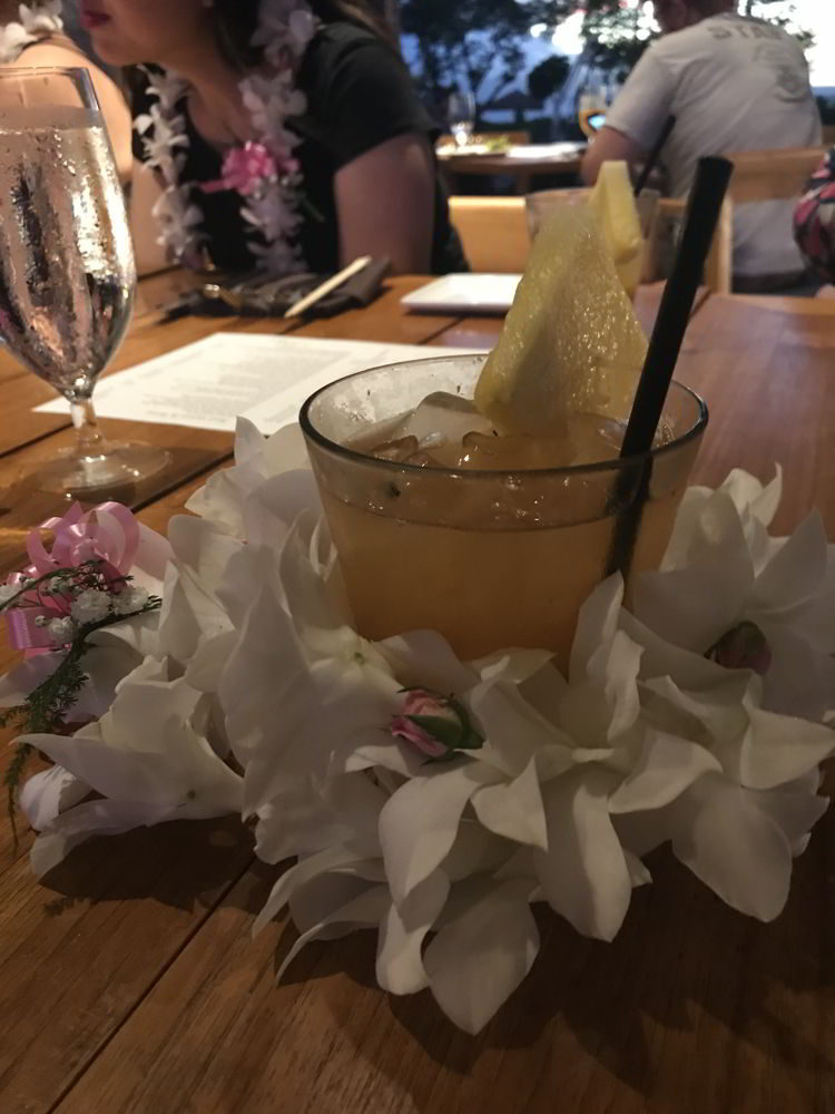 An image of a local ccktail at Mauka Makai restaurant in Kāʻanapali, Maui.