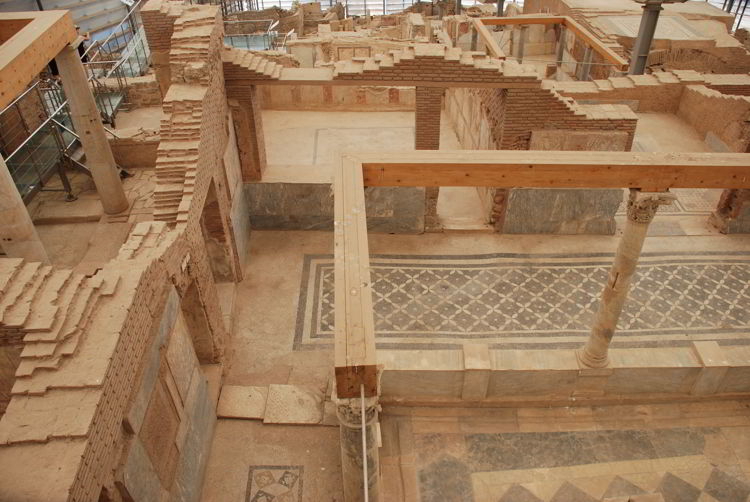 An image of the Terrace Houses in Ephesus, Turkey.