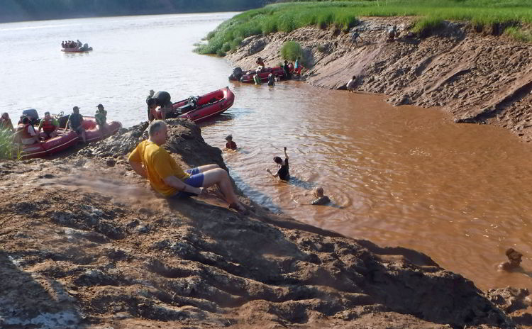 An image of a mud slide along the shores of the Schubenacadie River in Nova Scotia.