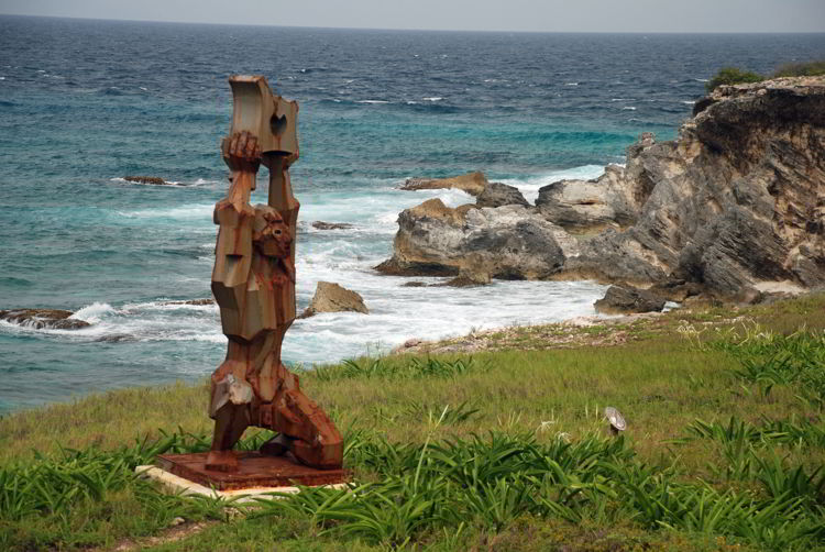 An image of the sculpture garden on Isla Mujeres, Mexico - Riviera Maya excursions