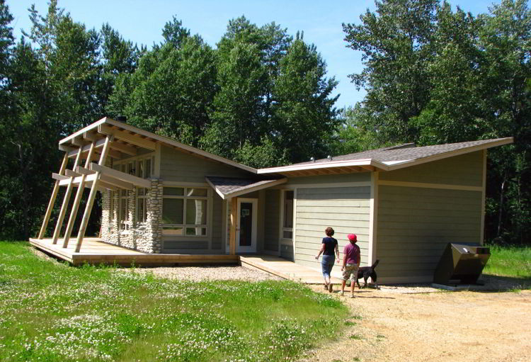 An image of the exterior of  The Nest at Lesser Slave Lake Provincial Park - Glamping in Alberta.