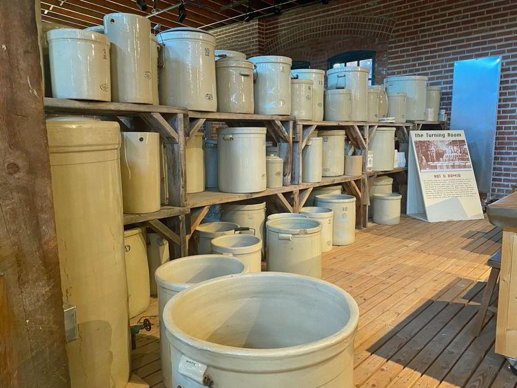 An image of clay pots at the MedAlta Museum in Medicine Hat, Alberta, Canada.
