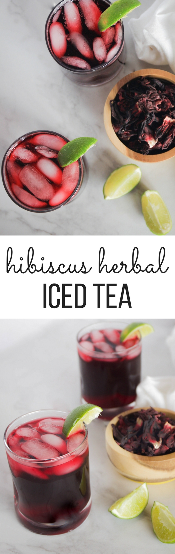 Hibiscus Iced Tea is tart with a hint of sweetness, and is packed with healths benefits. Delightfully invigorating, it's the perfect drink for a summer day!