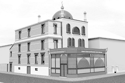 An image of the mosque plans in Falcon Road, Battersea