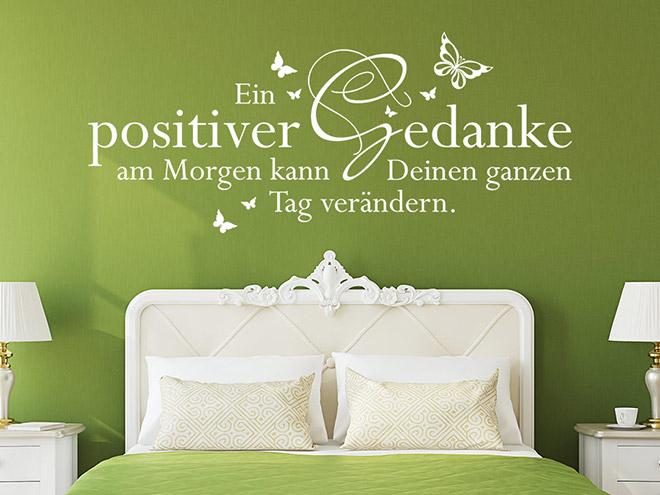 Wandtattoo Ein positiver Gedanke am Morgen...