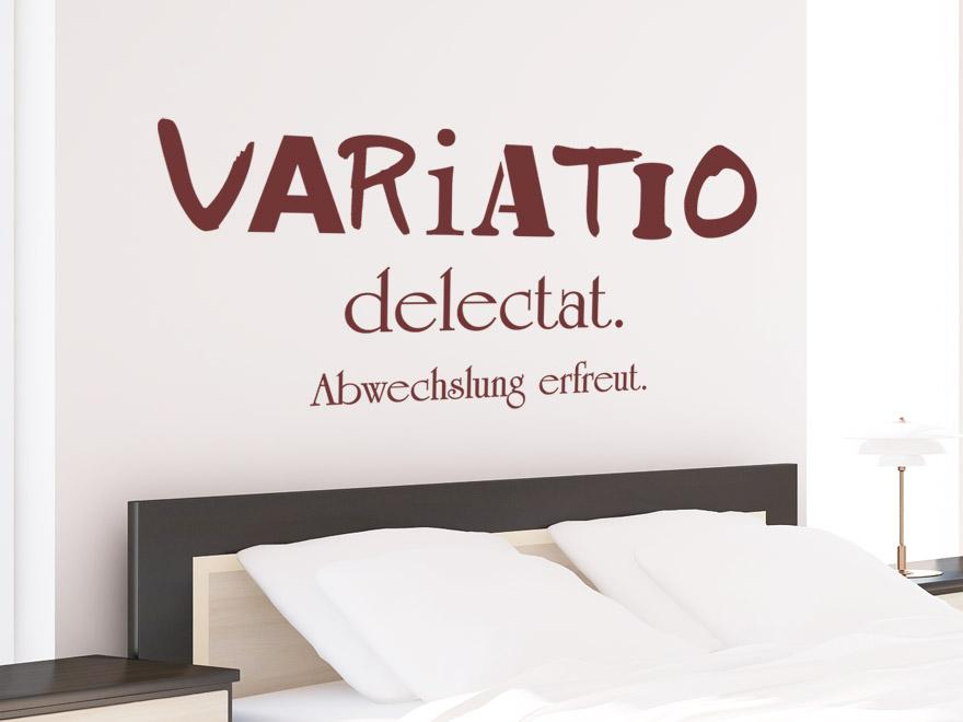 Wandtattoo Spruch Variatio Delectat Latein