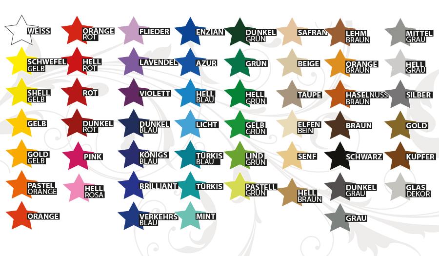 Wandzauber Sterne Farbauswahl 2015 2