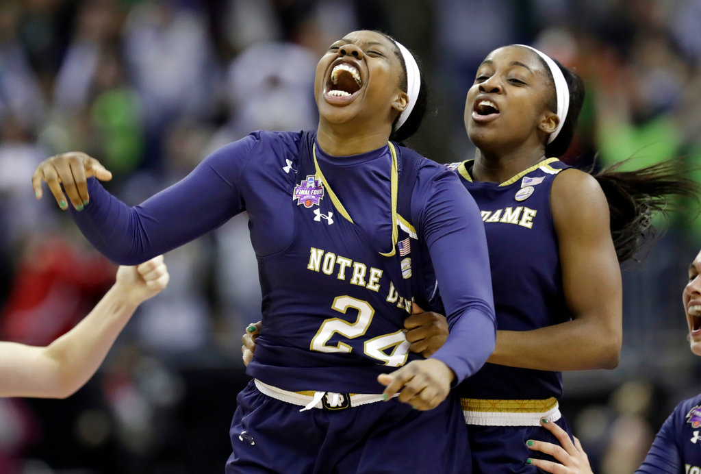APTOPIX NCAA Championship Notre Dame Mississippi St Basketball_1522633478465