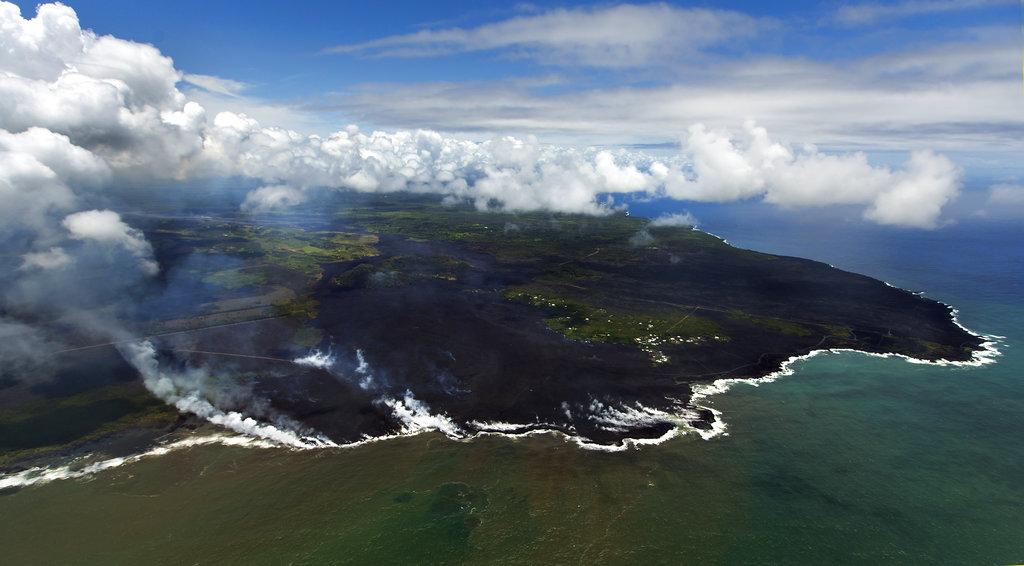 Hawaii Volcano new coastline
