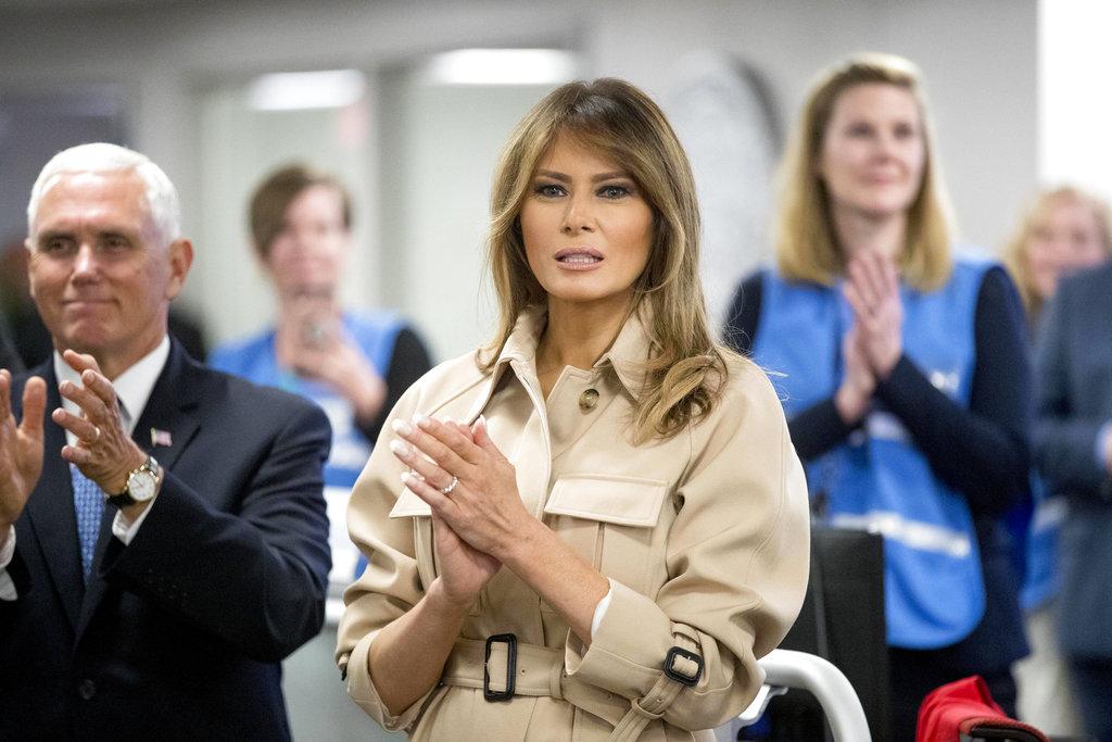Melania Trump hurricane briefing