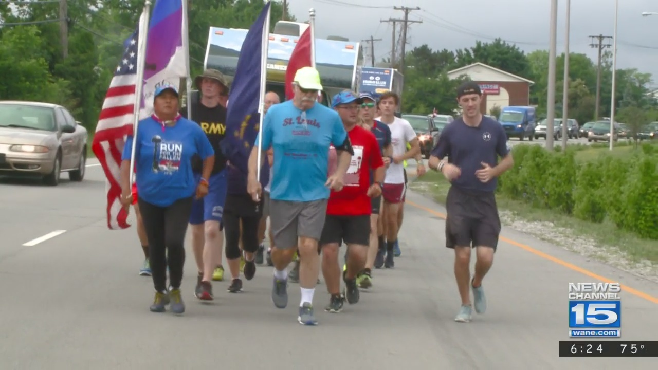 Runners honor fallen veterans by traveling to Indianapolis