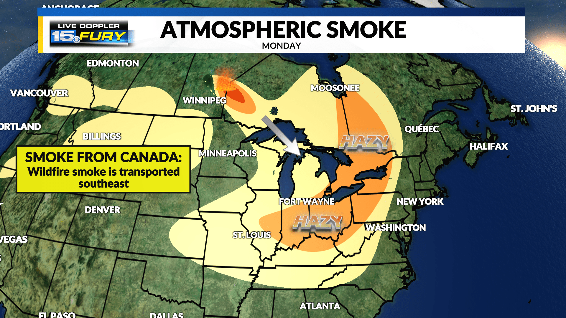 Please click the 'current fires' tab to the left to check out a map of current wildfire activity in the state. Why Is The Sky So Hazy Here S The Explanation Wane 15
