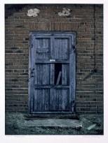 Blue door, fotogravyr. ©Maria Wangi Ibohm, Maria Backström
