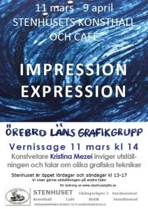 Impression-Expression, utställning med Örebro Läns Grafikgrupp på Stenhusets konsthall i Surahammar