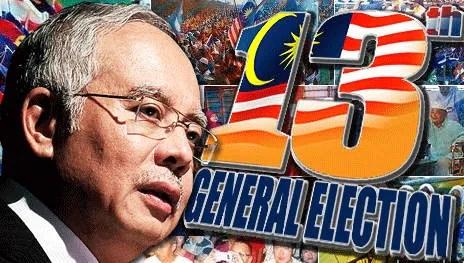 [ PRU 13 terkini ] Penamaan calon pada 20 April , pilihan raya umum ke 13 pada 5 Mei 2013