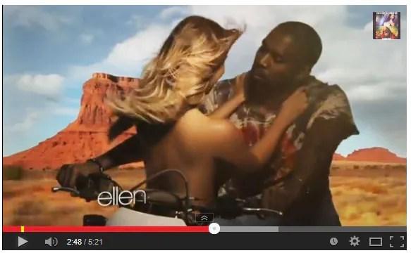 Kim Kardashian tampil separuh berbogel dalam muzik video terbaru Kanye West