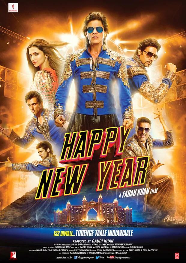 shahrukh khan happy new year poster