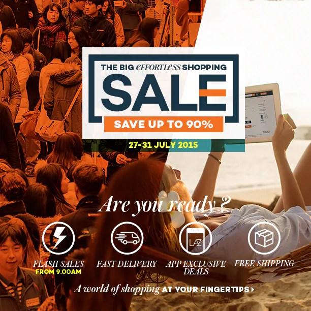 """Jualan Murah """"Effortless Shopping"""" di Lazada, 27 – 31 Julai Ini!"""