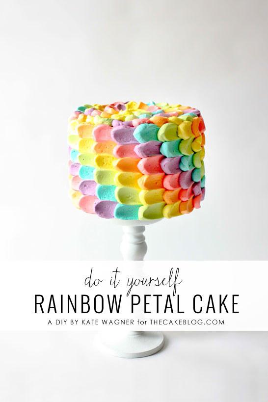 15 Rainbow Petal Cake