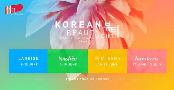 Dapatkan Lebih 1000 Produk Kecantikan Korea Dengan Potongan Harga 80% Di 11street Hari Ini!