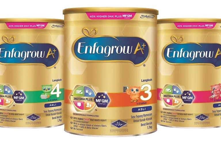 Enfagrow A+ Dirumus Dengan Khasiat Baharu Untuk Kanak-Kanak Bijak!