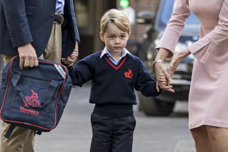 Prince George Sedikit Gementar, Hari Pertama Masuk Sekolah