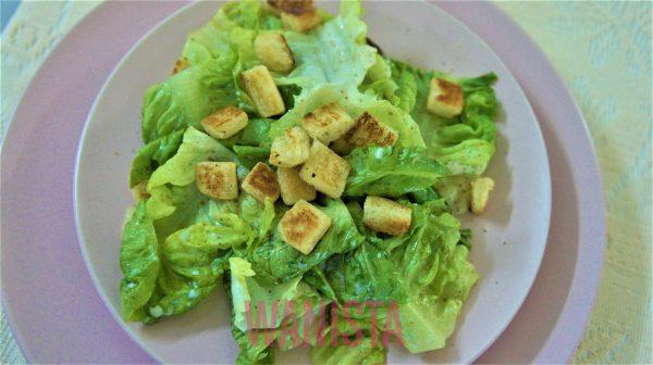 Tengah On Diet? Nah Resipi Caesar Salad Rangup Ala Pizza Hut