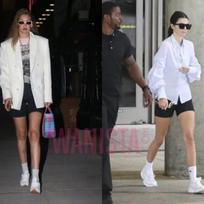 """Tiru Cara Hadid Dan Jenner Gayakan Fesyen Daring """"Cycling Shorts"""""""