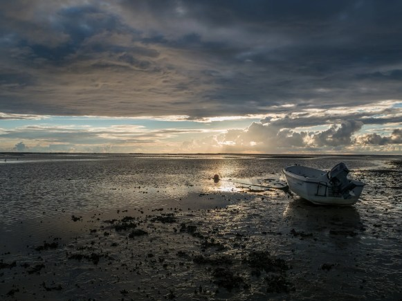 Boat during low tide