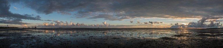 Wadden Sea during low tide