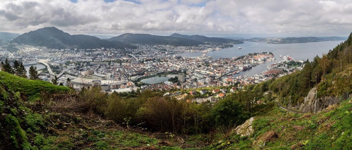 Bergen - panorama of the city