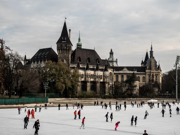 Budapest Outdoor Ice Rink in the City Park