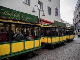 Christmas market train