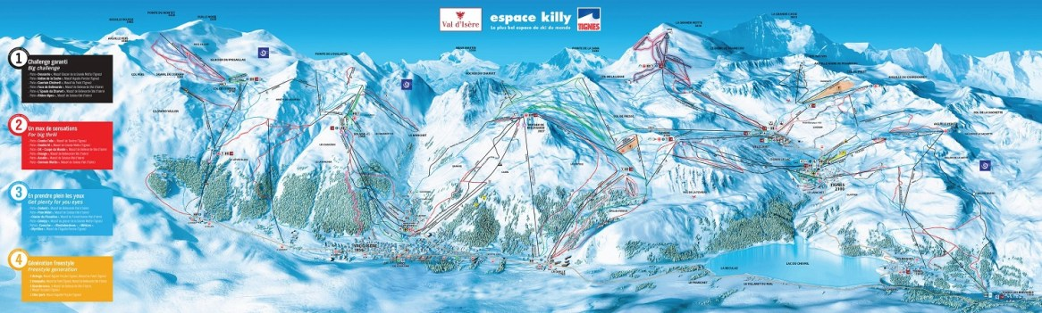 Tignes ski resort map