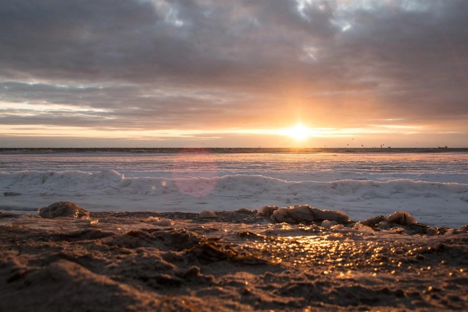 Bellevue Strand at sunset