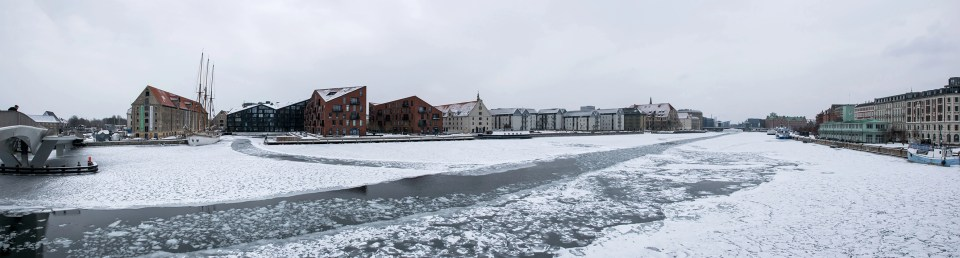 Copenhagen in snow