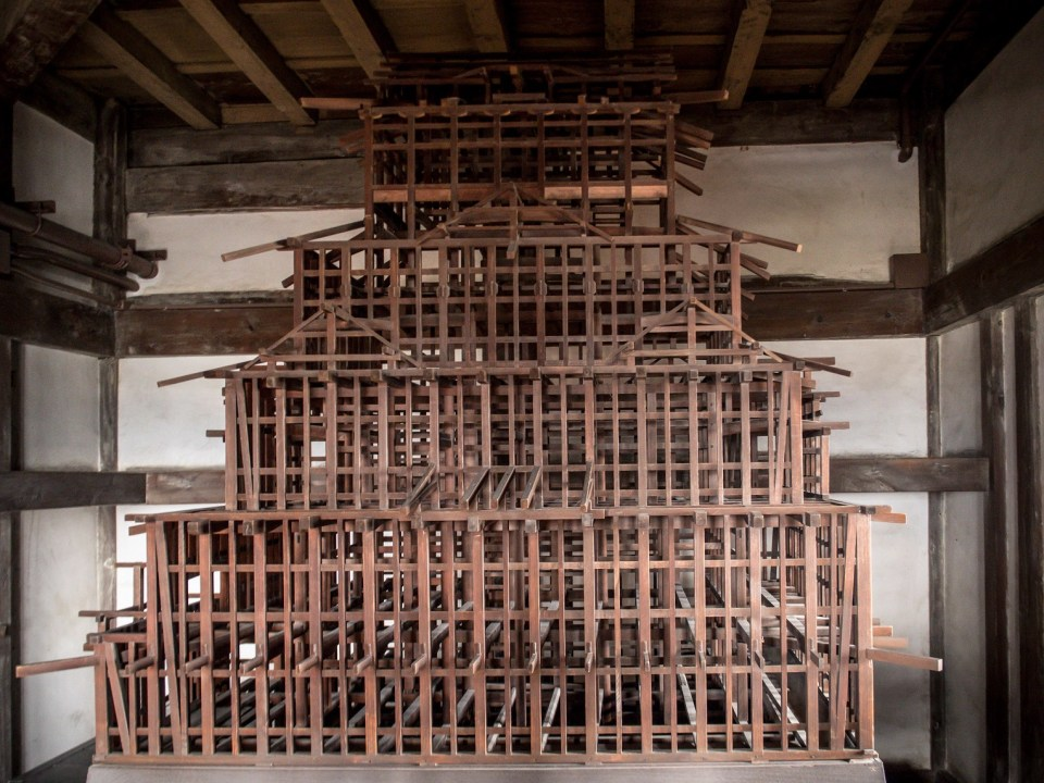 The structure of Himeji castle