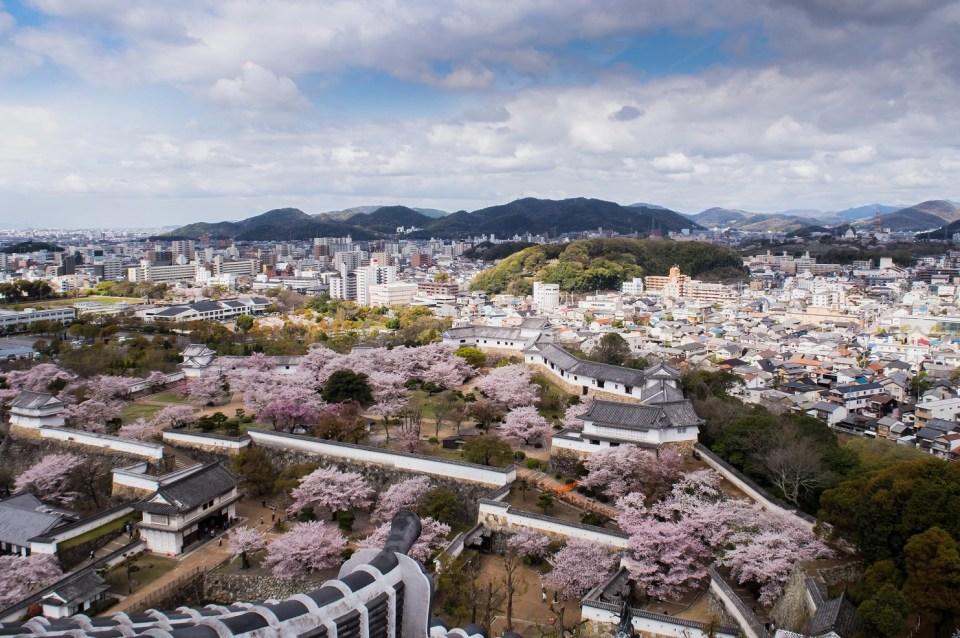 Panorama of Himeji city