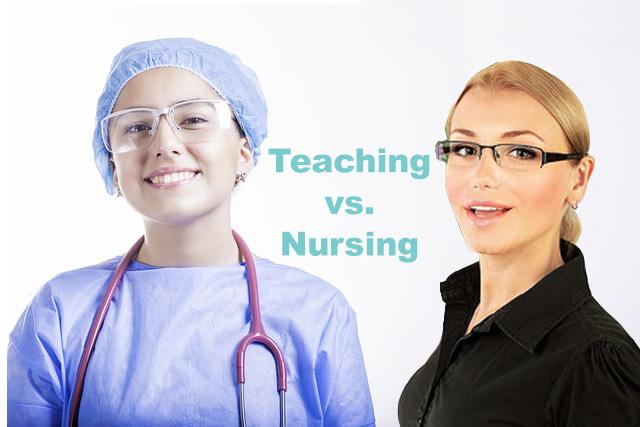 A teacher and a nurse